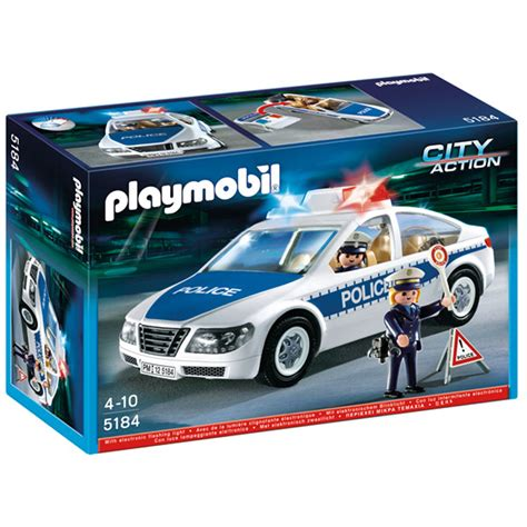 police car toy with flashing lights police car with flashing light from playmobil wwsm