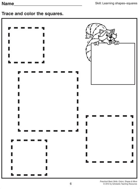 triangle pattern to trace square tracing worksheet shapes and lines pinterest
