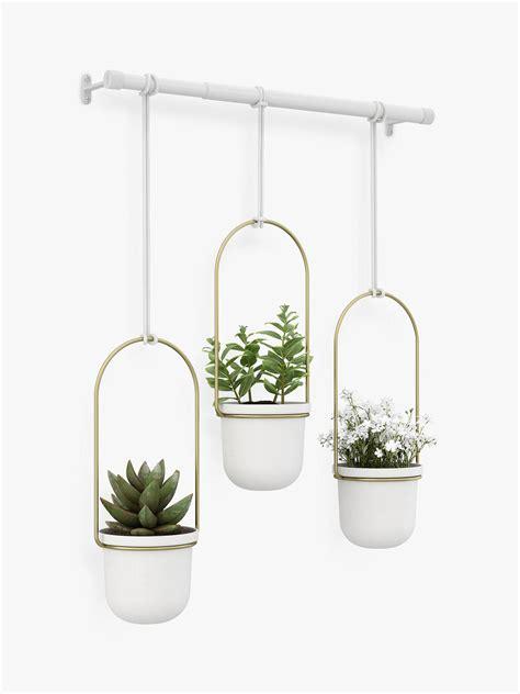 umbra triflora hanging planter white  john lewis partners