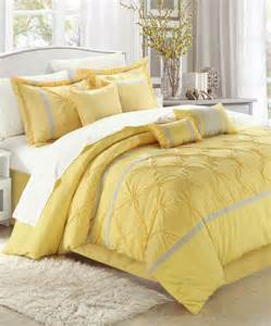yellow vermont embroidered comforter set modern