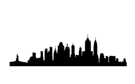 new york city skyline silhouette clipart best