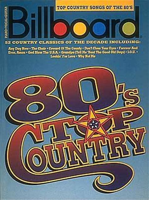 best country music songs of the 80 s billboard top country songs of the 80 s sheet music by