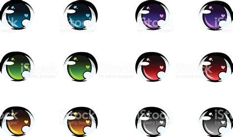 imagenes ojos de anime juego de anime redondo ojos arte vectorial de stock y