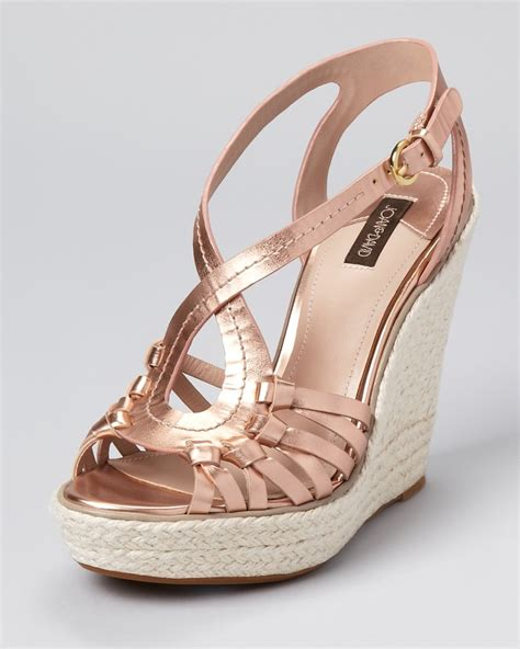 Wedges Roses gold wedge shoes heaven