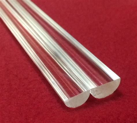Acrylic Rod 2 pieces 500 quot diameter x 36 quot clear extruded
