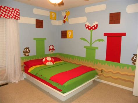 mario themed bedroom cool super mario kids room design kidsomania