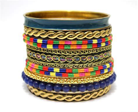 Beaded Bangles Handmade - ladymee bracelet jewelry indian bangles blue beaded
