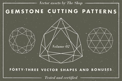 fashion pattern cutting line shape and volume gemstone shape cutting pattern volume 02 43 elements