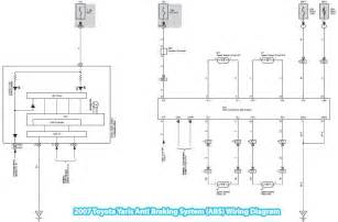 2007 toyota yaris anti braking system abs wiring diagram