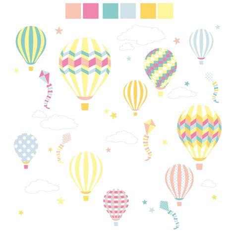 printable animal balloon decals hot air balloon kites wall stickers