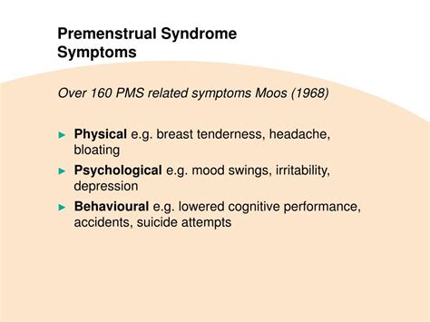 pms mood swings treatment ppt premenstrual syndrome pathophysiology definition of