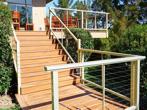 Backsplash Ideas For The Kitchen aluminium deck stair railing railing stairs and kitchen
