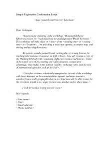 Confirmation Letter Meeting Format For Confirmation Letter Best Template Collection