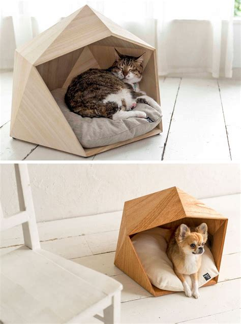 cats in dog beds these geometric pet beds are an ideal resting spot for