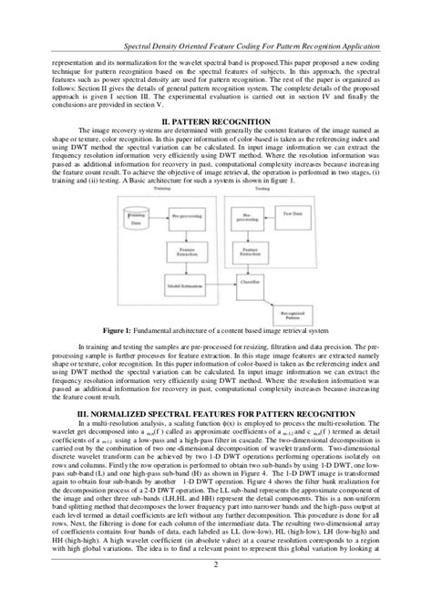 pattern recognition application journal spectral density oriented feature coding for pattern