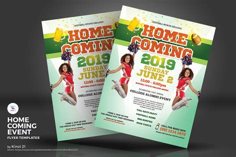 Homecoming Event Flyers Corporate Identity Template 71796 Homecoming Flyer Template