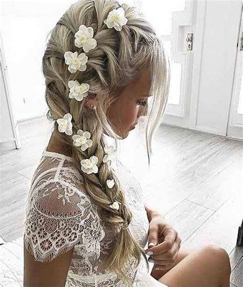 Wedding Hair Braid With Flowers by Top 14 Effortless Braids The Bohemian Wedding