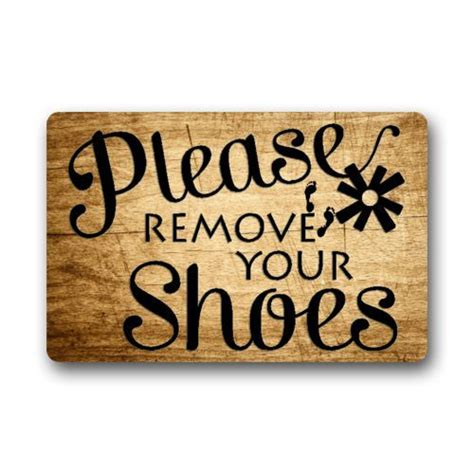 Take Your Shoes Mat by New Custom Remove Your Shoes Indoor Outdoor Doormat