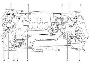 2009 nissan altima qr25de engine compartment diagram