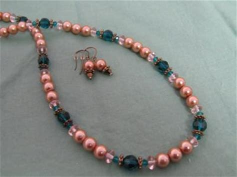 pearl bead jewelry designs glass pearl and bead necklace and earring design idea