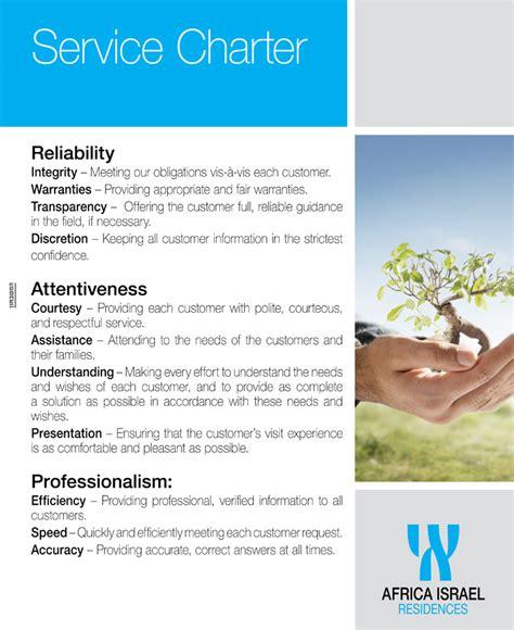 client service charter template client service charter template images template design ideas