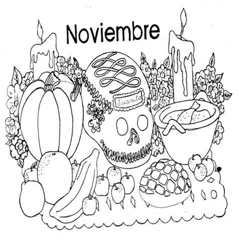 imagenes infantiles para colorear del dia de muertos dibujos para colorear dia de muertos ii mamas y bebes blog