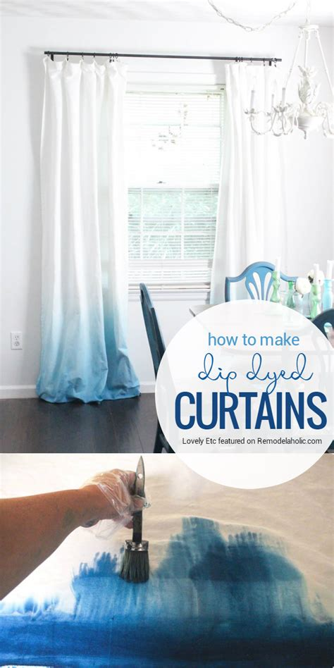 upgrade white curtains remodelaholic make your own ombre dip dye curtains