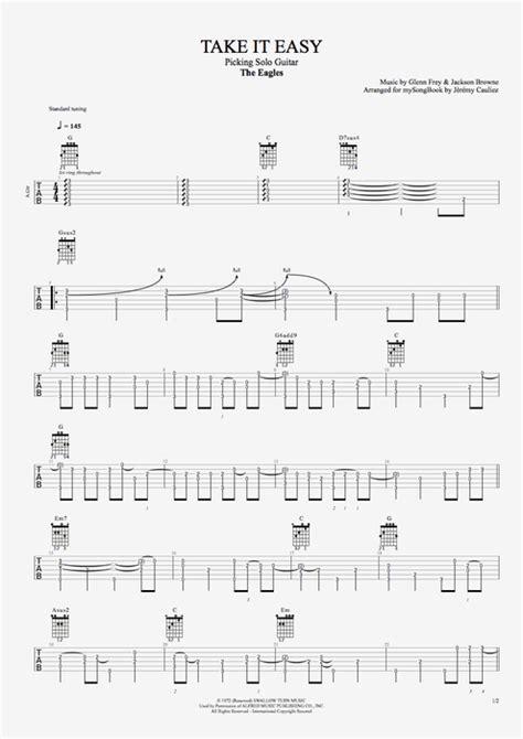 Beautiful Eagles Take It Easy Guitar Chords Motif - Beginner Guitar ...