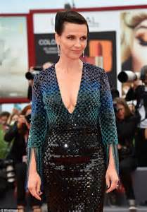 juliette binoche on the wait premiere red carpet at venice film festival daily mail online