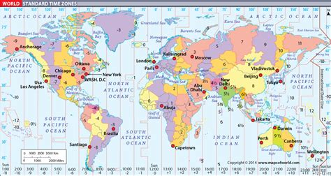 time zone map world map of world time zones travelquaz