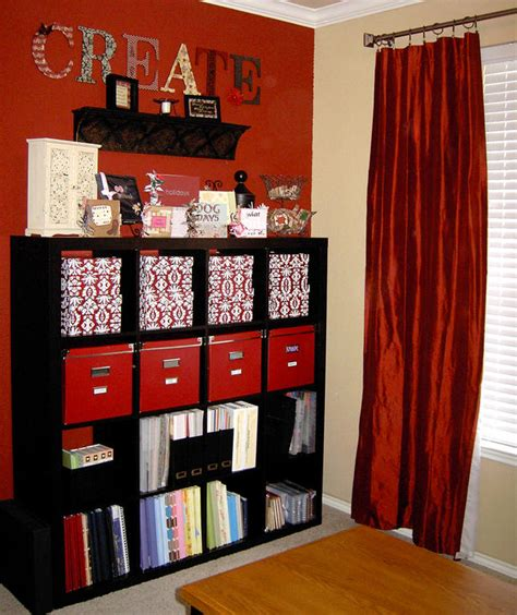 organising room craft and sewing room storage and organization interior