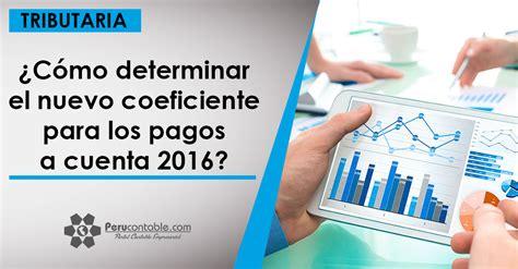 pago a cuenta renta 2016 191 c 243 mo determinar el nuevo coeficiente para los pagos a