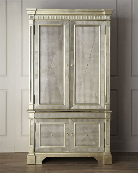 armoires and more dallas amelie mirrored cabinet traditional dallas by horchow