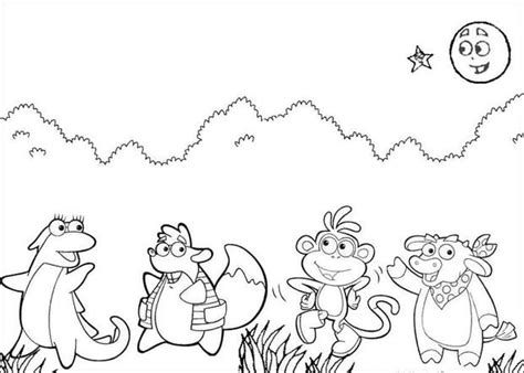 dora and friends coloring pages games dora s friends coloring pages hellokids com