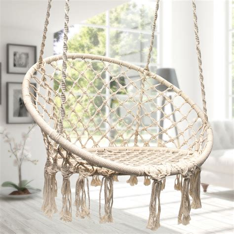 Hamac Chair by Sorbus Hammock Chair Macrame Swing 265 Pound Capacity