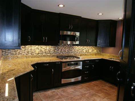 Hand Crafted Maple Kitchen Cabinets, Espresso Stain, Solid