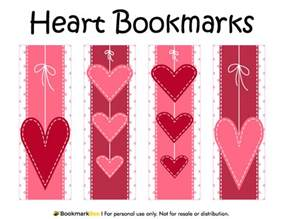 printable heart bookmarks