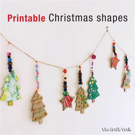 printable christmas ornaments pinterest printable christmas shapes the craft train