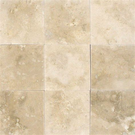 ms international ivory 4 in x 4 in honed travertine floor and wall tile 1 sq ft case
