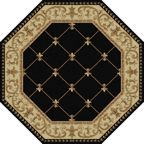 octagon rugs 5 tayse rugs sensation orleans border 5 3 octagon area rug home home decor rugs area