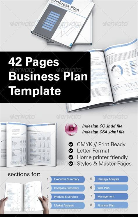free business template indesign 42 business plan template for indesign design