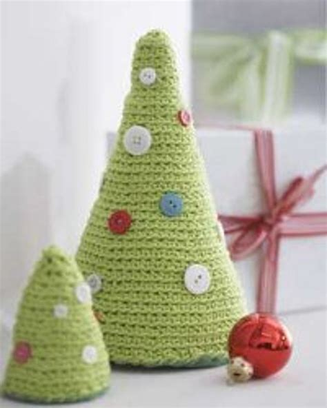 crocheted christmas trees favecrafts com