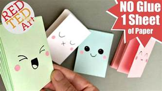 How To Make A Tiny Book Out Of Paper - easy mini notebook from one sheet of paper no glue