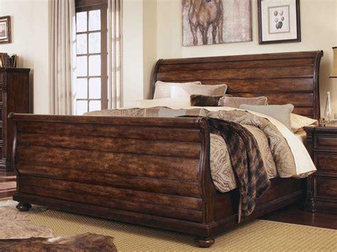 california king sleigh bedroom set a r t furniture whiskey oak california king sleigh bed