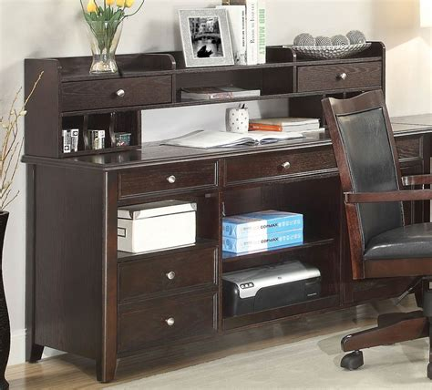 small brown desk coaster maclay desk with small hutch brown silver