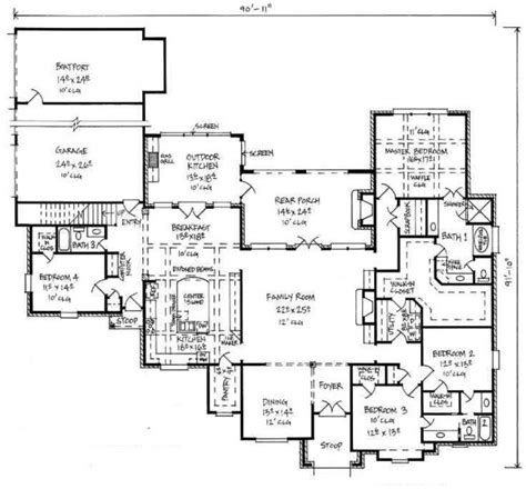 5 bedroom house plans with bonus room 653390 large country house plan with bonus room house plans floor plans home plans