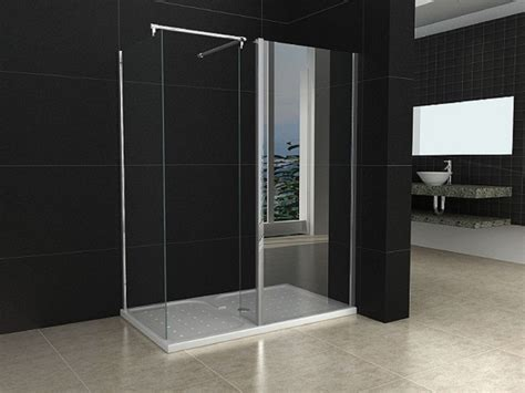 Shower Tray And Door 1200x800mm Walk In Shower Enclosure Door Shower Tray Trap Waste Ebay