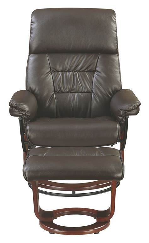 Glider Recliner Ottoman Chocolate Glider Recliner With Ottoman 600084 Coaster Furniture