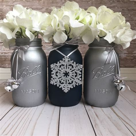 table decorations blue and silver navy blue and silver jars table