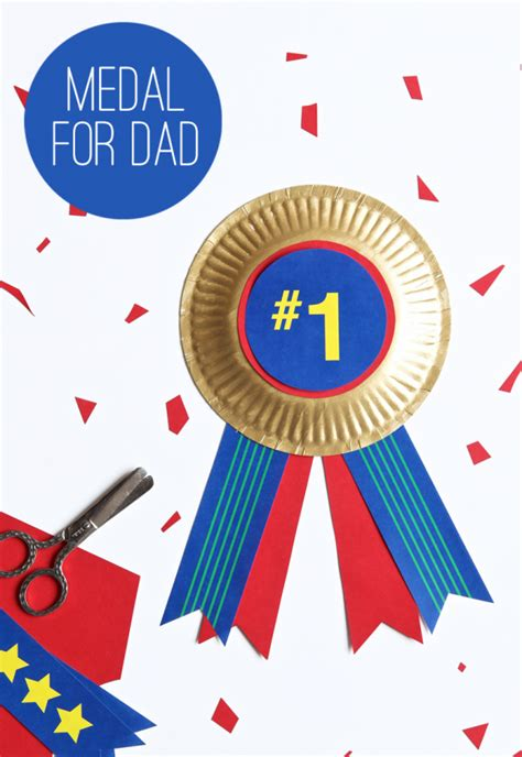 printable paper medals colorful medal for dad paging supermom